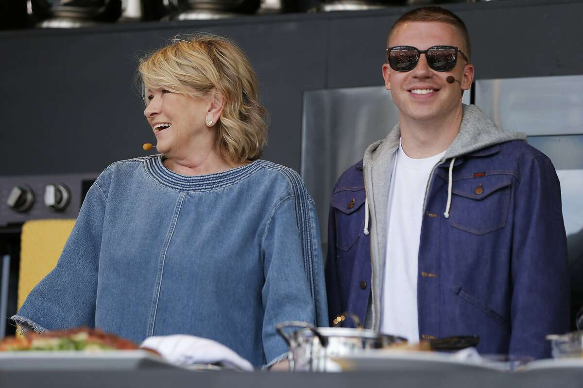 Martha Stewart and Macklemore during BottleRock at the Napa Valley Expo on May 26, 2017.