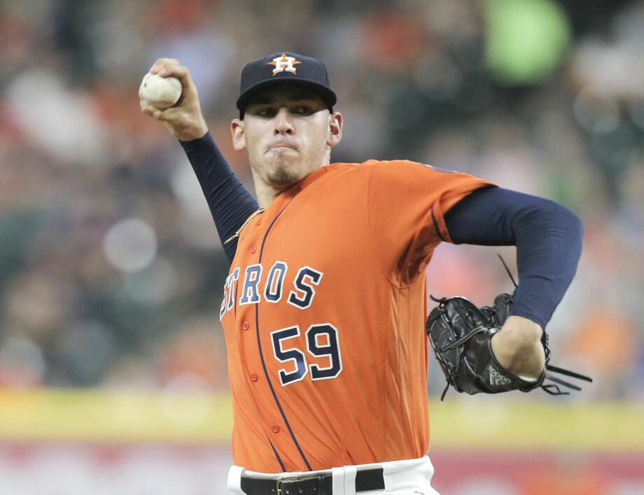 Houston Astros starting pitcher Joe Musgrove (59) pitches in the first inning against the Baltimore Orioles in the first of a three-game series at Minute Maid Park on Friday, May 26, 2017, in Houston. ( Elizabeth Conley / Houston Chronicle ) Photo: Elizabeth Conley/Houston Chronicle