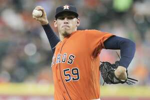 Houston Astros starting pitcher Joe Musgrove (59) pitches in the first inning against the Baltimore Orioles in the first of a three-game series at Minute Maid Park on Friday, May 26, 2017, in Houston. ( Elizabeth Conley / Houston Chronicle )
