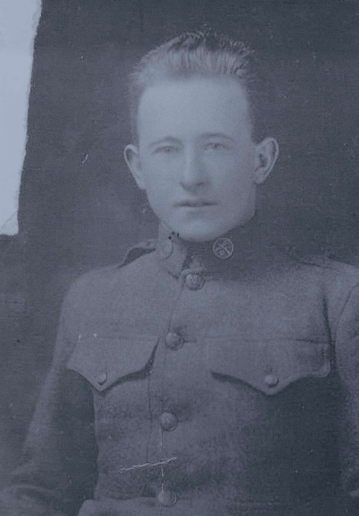 A copy photo of Charles Waldron, a Schaghticoke veteran who served during World War I. Waldron was killed in France on April 12, 1918. (Paul Buckowski / Times Union)