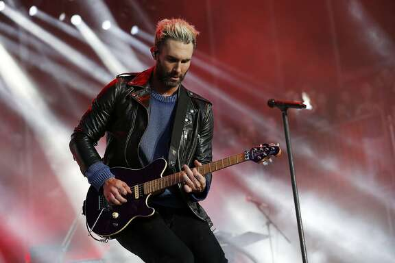 Adam Levine of the band Maroon 5 performs during BottleRock at the Napa Valley Expo on Friday, May 26, 2017, in Napa, Calif.