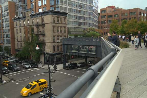 On New York's High Line, a decommissioned railroad freight line has been turned into a park in the air.