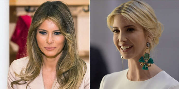 First Lady Melania Trump and daughter of the U.S. president Ivanka Trump joined the first international tour and turned the political meetings into fashion shows.  Continue clicking to see the outfits the Trump women wore during their foreigntrip with the president.