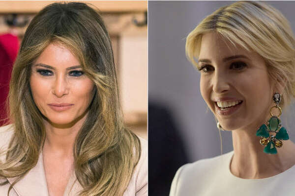 First Lady Melania Trump and daughter of the U.S. president Ivanka Trump joined the first international tour and turned the political meetings into fashion shows.  Continue clicking to see the outfits the Trump women wore during their foreign trip with the president.