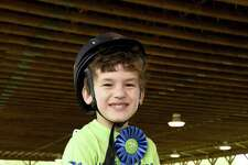 Kiernan Feltz of Wilton earned his therapeutic riding class's best transitions award at the 35th annual Pegasus Horse Show on May 20.