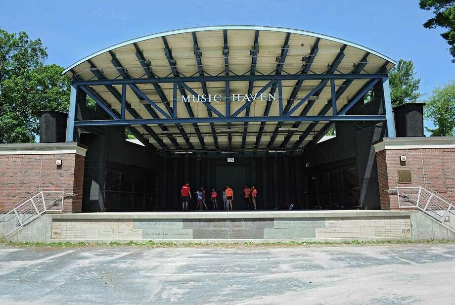 The Music Haven stage in Central Park on Wednesday, July 6, 2016 in Schenectady, N.Y. (Lori Van Buren / Times Union) Photo: Lori Van Buren / 20037249A