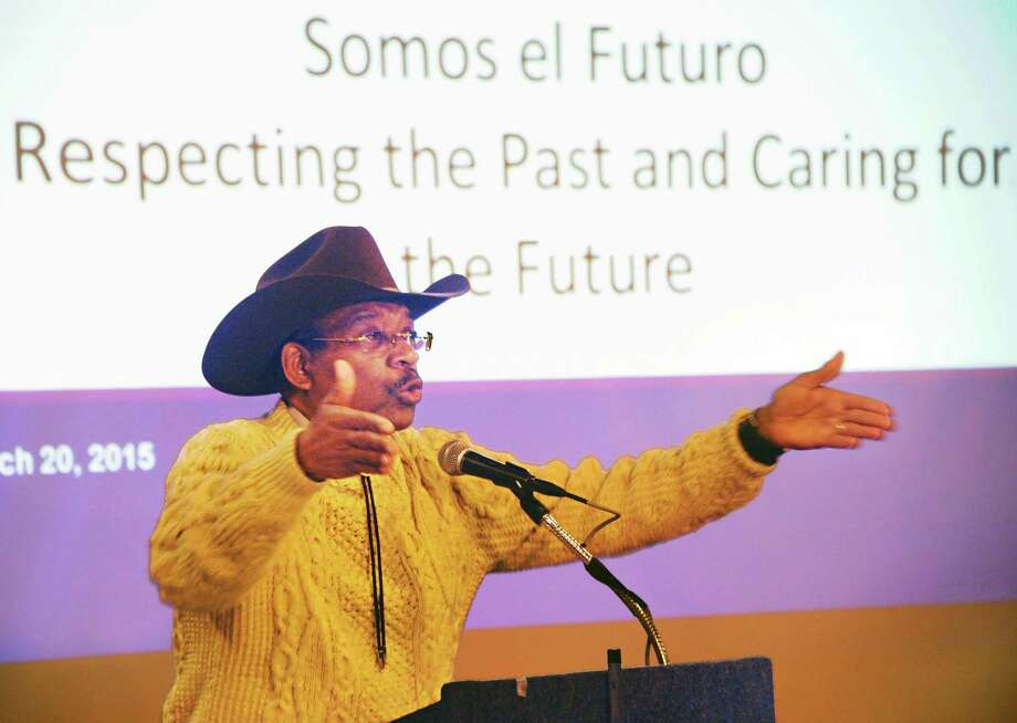 Senator Rev. Ruben Diaz speaks during the Somos el Futuro Spring 2015 Conference at the Empire State Plaza Friday March 20, 2015 in Albany, NY.   (John Carl D'Annibale / Times Union) ORG XMIT: MER2017052619213795 Photo: John Carl D'Annibale / 00031126A