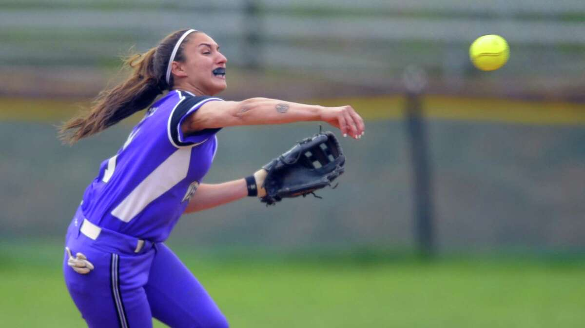 Westhill defeated Fairfield Ludlowe 4-0 in a varsity girls softball game at Westhill High School on May 9, 2017.
