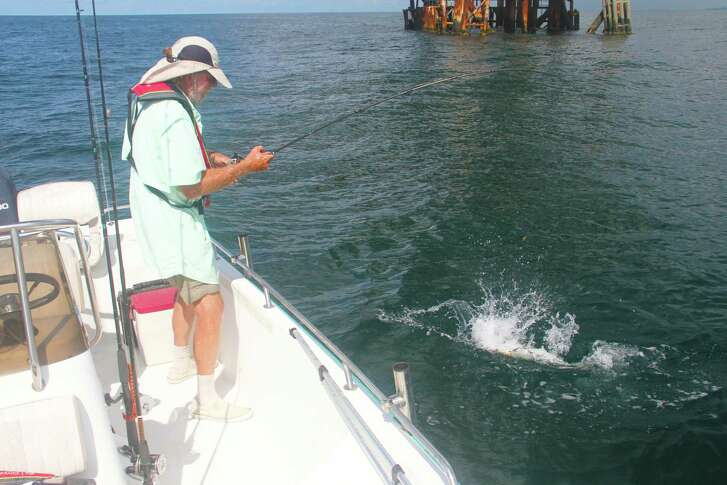 Texas offshore fishing catches fire as June arrives, but anglers looking forward to the June 1-3 red snapper season in federally controlled waters probably won't see the calm conditions enjoyed by this angler.