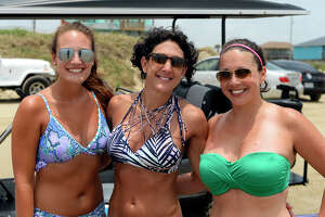 Caroline Meyers, Jill Marbury and Brandy Parker at Crystal Beach for Memorial Day weekend on Saturday.  Photo taken Saturday 5/27/17 Ryan Pelham/The Enterprise