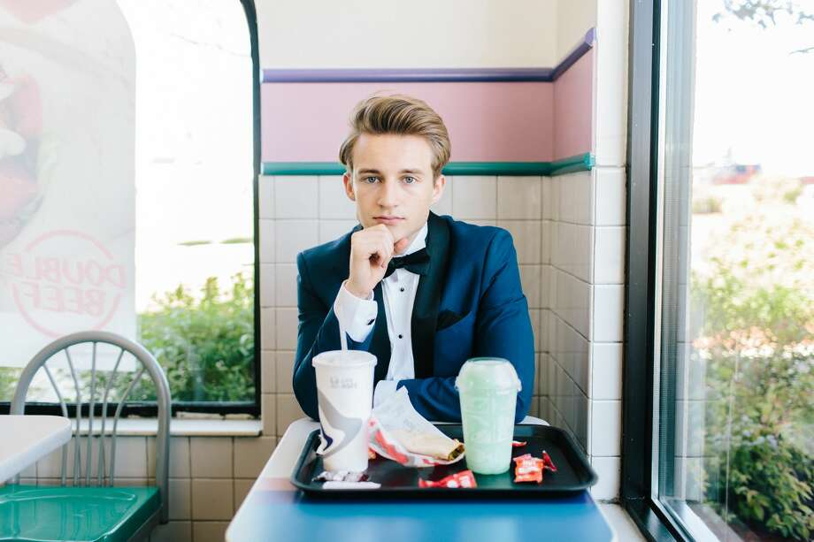 Senior, Andrew McBurnie became an Internet sensation after taking high-fashion style photos at his local Taco Bell.  Photo: Courtesy Of Wesley Taylor