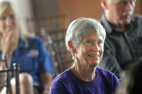 Runner Libby James of Fort Collins, Colo. is in attendance during a news conference for the Freihofer's Run for Women on Friday, May 29, 2015, at Taste in Albany, N.Y. (Cindy Schultz / Times Union)