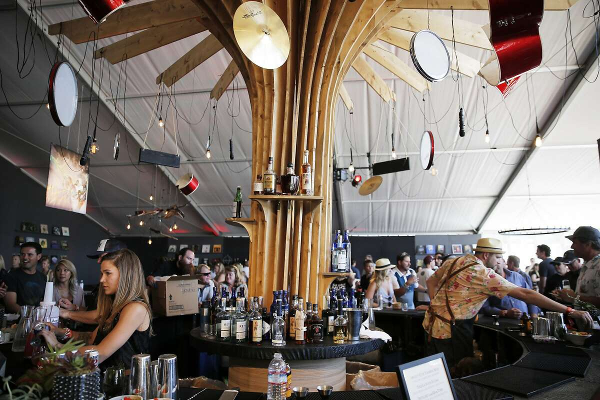 The Platinum Lounge during BottleRock, on May 27, 2017 in Napa.