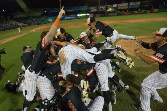 The Sam Houston State party is on after the Bearkats swept through the SLC baseball tournament, outscoring four opponents 37-10.