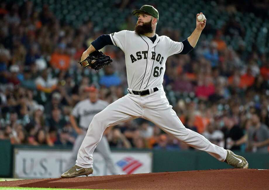 Houston Astros starting pitcher Dallas Keuchel delivers during the first inning of a baseball game against the Baltimore Orioles, Saturday, May 27, 2017, in Houston. (AP Photo/Eric Christian Smith) Photo: Eric Christian Smith, FRE / FR171023 AP