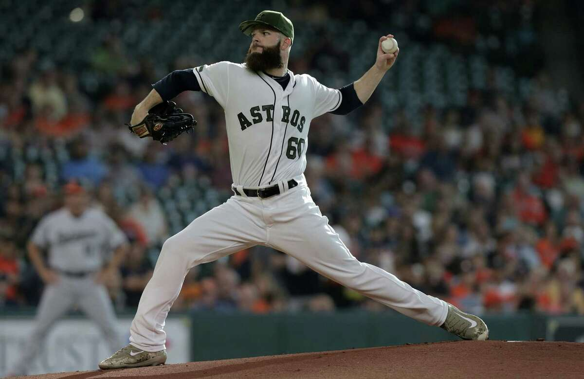 Astros lefthander Dallas Keuchel struck out eight while allowing only one run in six innings in his first start in 11 days after recovering from a pinched nerve in his neck.