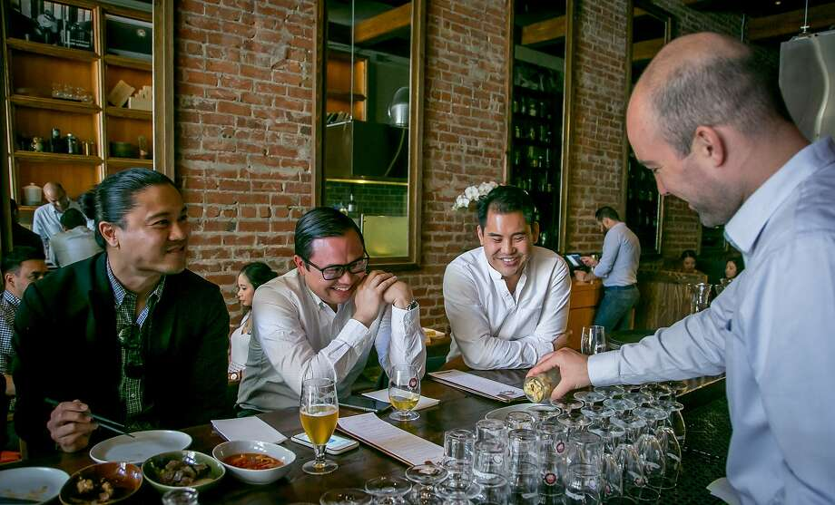 People have beers and food at Hitachino in San Francisco, Calif., on May 27th, 2017. Photo: John Storey, Special To The Chronicle