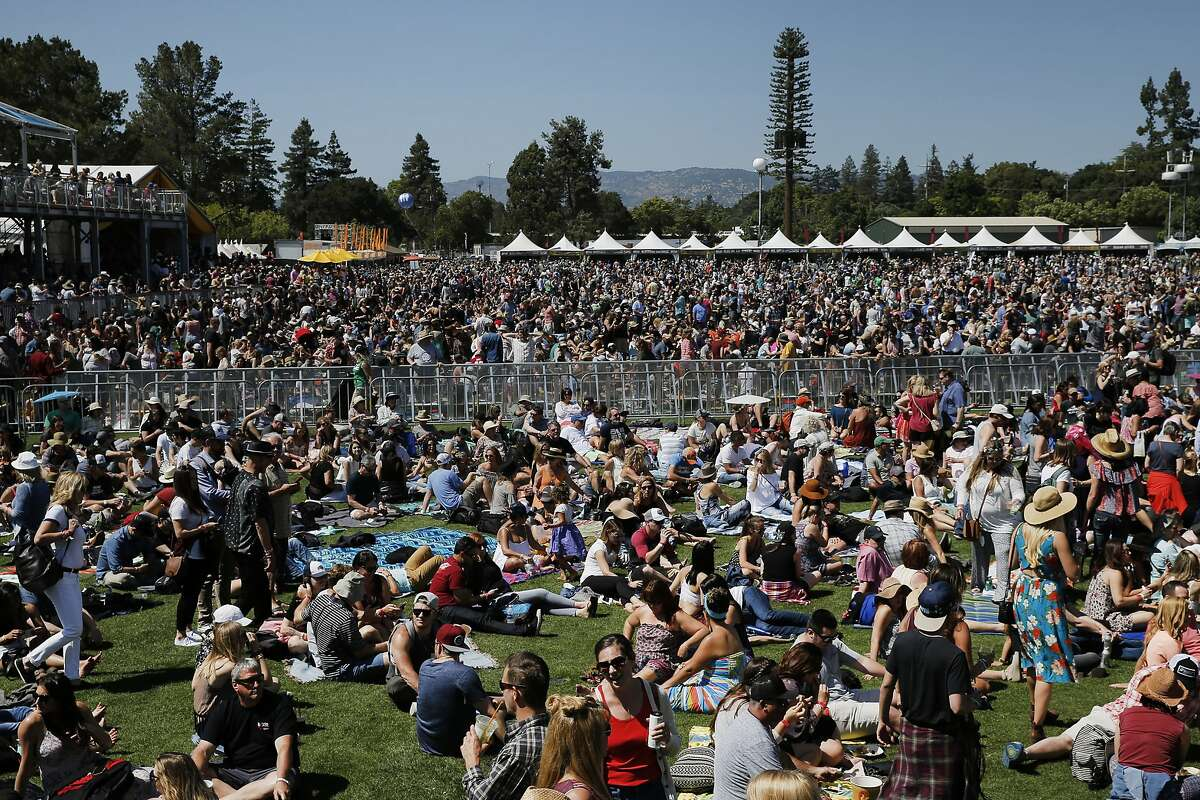 Thousands of people during BottleRock on Saturday, May 27, 2017, in Napa, Calif.