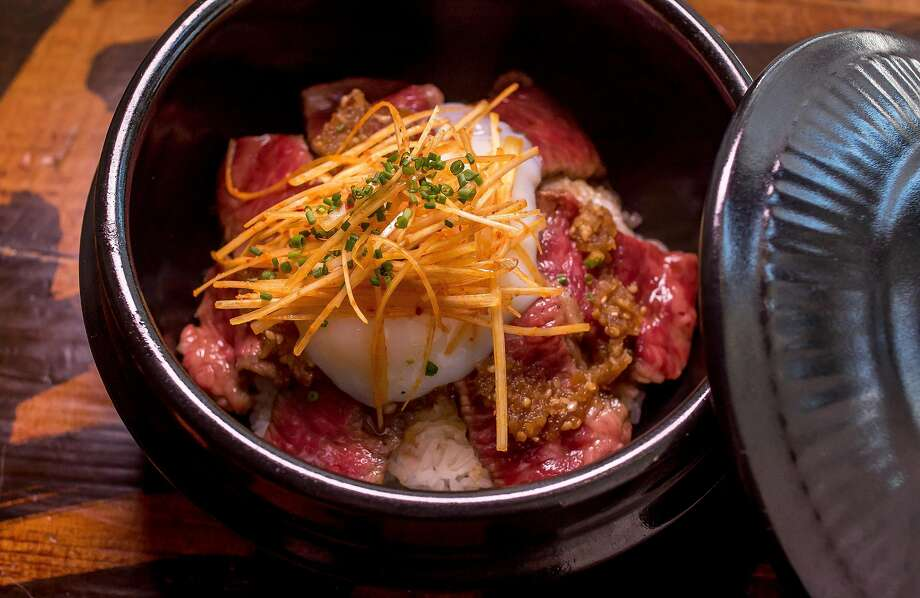 Donburi with wagyu at Hitachino. Photo: John Storey, Special To The Chronicle
