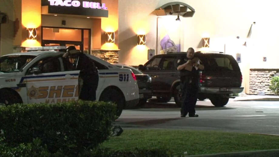 A man was shot Saturday night after pointing a gun at a security guard. Photo: Metro Video