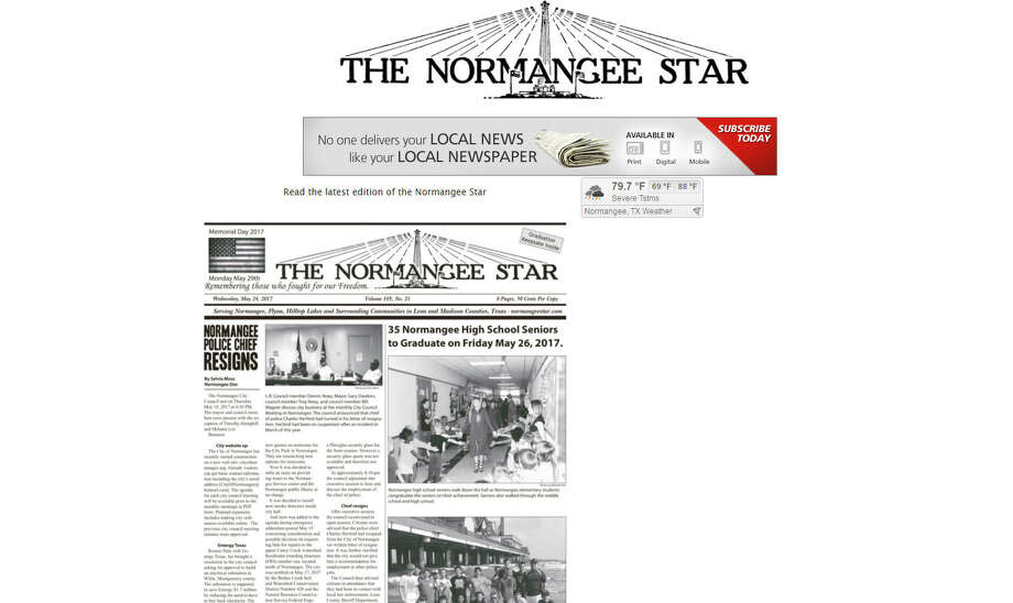 A small, East Texas town newspaper has an unfortunate doppleganger. The Normangee, Texas, Star shares a name with a Ukrainian outfit that has appropriated it's name. Normangeestar.com will take you to the Texas newspaper. Normangeestar.net will take you to a fake news site.