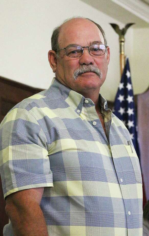 New Liberty County Pct. 1 Commissioner Bruce Karbowski's first official act in office was to attend his first commissioners court meeting May 23. Photo: David Taylor