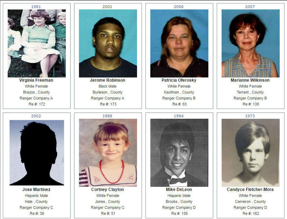 The Texas Rangers and the Department of Public Safety have turned online for help in solving cold cases. The agencies have the Top 12 unsolved cases in Texas on their website as well as the cases from Company A, which includes Houston and much of East Texas.Scroll through the galleries to see the Top 12 unsolved murders in Texas as well as unsolved cases in Company A.