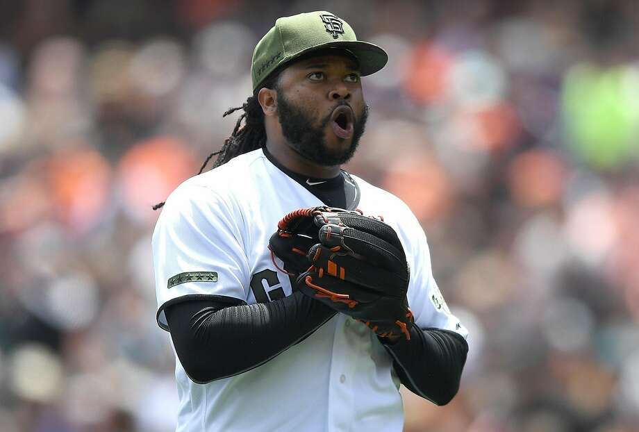 Johnny Cueto might be a fan favorite in San Francisco, but he also could be the Giants' biggest trade chip if they sell. Photo: Thearon W. Henderson, Getty Images