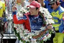 Takuma Sato, of Japan, celebrates winning the Indianapolis 500 auto race at Indianapolis Motor Speedway, Sunday in Indianapolis.