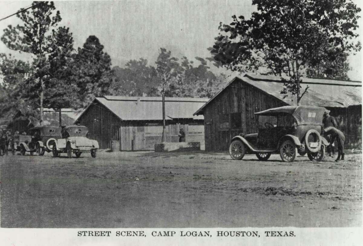 Camp Logan, a U.S. Army camp situated on land that now is Memoria Park, was the scene of a major riot in 1927 in which 17 persons were killed. undated - Street Scene, Camp Logan, Houston, Texas.