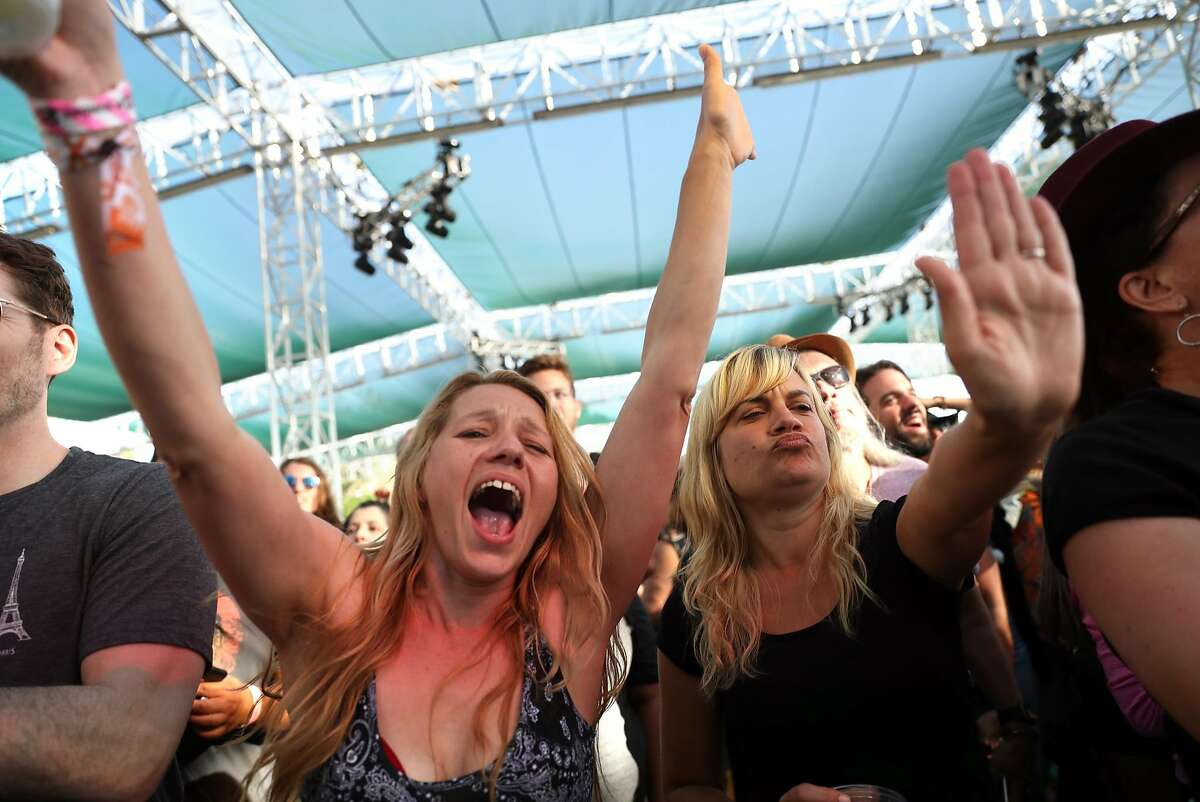 Fans cheer as Con Brio plays the Miner family Winery Stage during BottleRock Napa Valley in Napa, Calif., on Sunday, May 28, 2017.