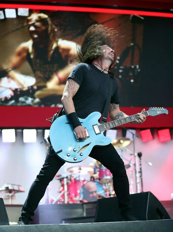 Dave Grohl of the Foo Fighters performs during BottleRock Napa Valley in Napa, Calif., on Sunday, May 28, 2017. Photo: Scott Strazzante, The Chronicle