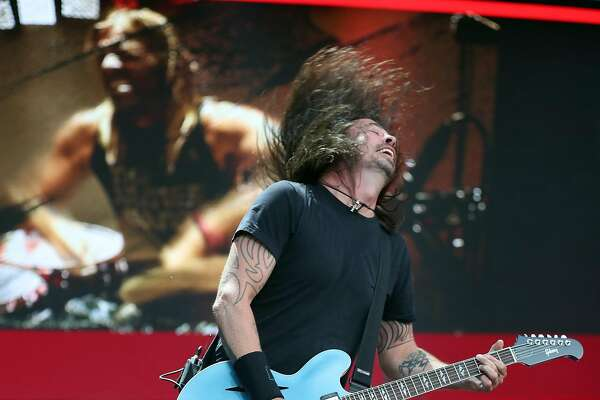 Dave Grohl of the Foo Fighters performs during BottleRock Napa Valley in Napa, Calif., on Sunday, May 28, 2017.