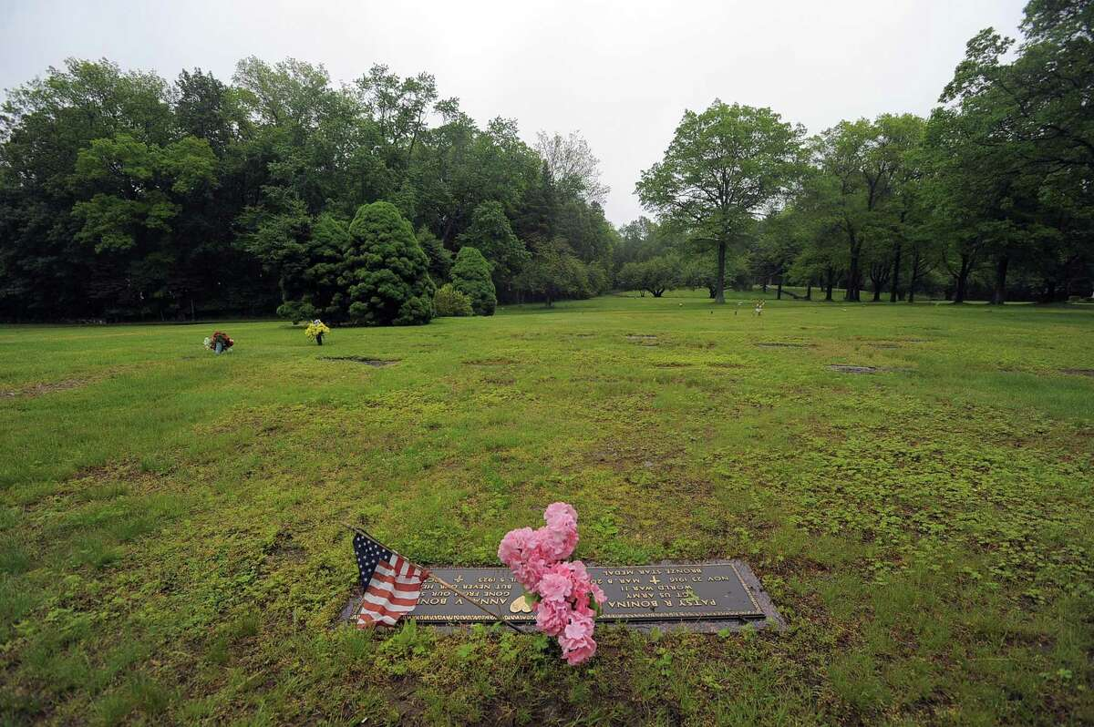 Fairfield Memorial Park cemetery in Stamford, Conn., shown in the photograph taken on Thursday, May 25, 2017, was shut down by the state 24 years ago after an Advocate investigation revealed that graves were being sold multiple times, bodies were not buried where the cemetery said they were and many other problems. Now a woman trying to sell plots she inherited is having trouble with her deeds and not getting money for plots she was told have been sold.