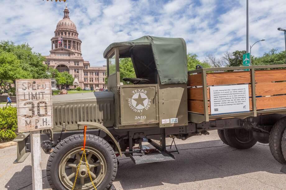 A 1918 TxDOT Liberty Truck, shown parked in front of the Texas Capitol in Austin, was part of the surplus fleet from World War I fashioned into fleet vehicles used by Texas Highway Department crews. It currently is on a tour of Texas to mark TxDOT's 100th anniversary. It will be in the Lubbock District from June 1-5, including Plainview's Amigos United Supermarket from 10 a.m. to 2 p.m. Saturday, June 3.