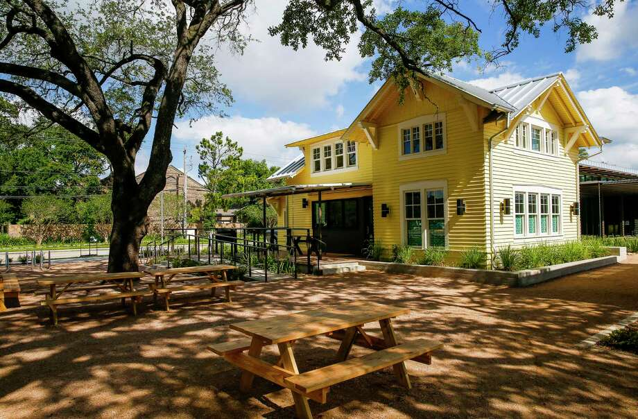 "The restaurant is inside the ""Little Yellow House"" at Evelyn's Park. Photo: Michael Ciaglo, Staff / Michael Ciaglo"