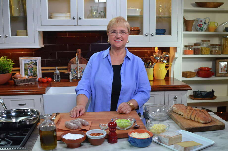"Renowned Italian chef and best-selling cookbook author Lidia Bastianich is the celebrity chef for the 2017 Wine & Food Week in the Woodlands June 5-11. Shown: Bastianich on the set of her PBS series ""Lidia's Kitchen."" Photo: Lidia's Kitchen"