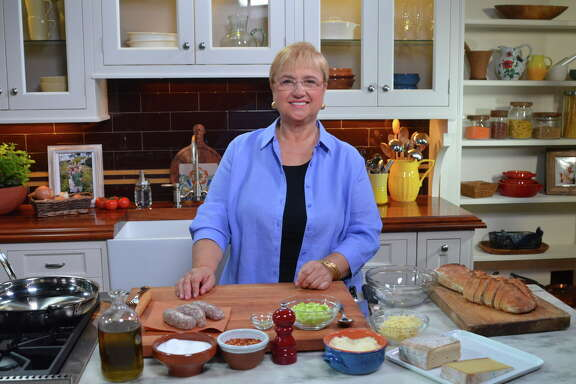 """Renowned Italian chef and best-selling cookbook author Lidia Bastianich is the celebrity chef for the 2017 Wine & Food Week in the Woodlands June 5-11. Shown: Bastianich on the set of her PBS series """"Lidia's Kitchen."""""""