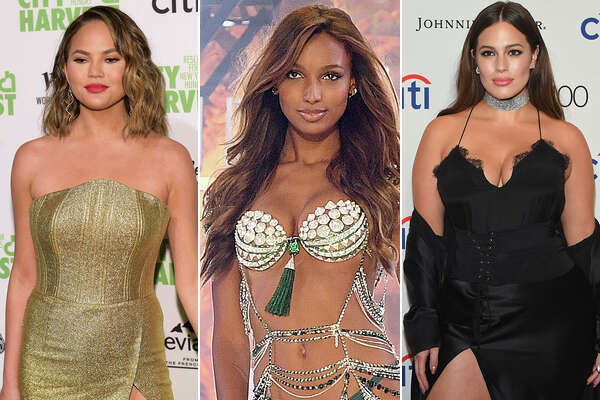 (From left) Models Chrissy Teign, Jasmine Tookes and Ashley Graham were among the 100 women named to Maxim's Hot 100 issue for 2017.