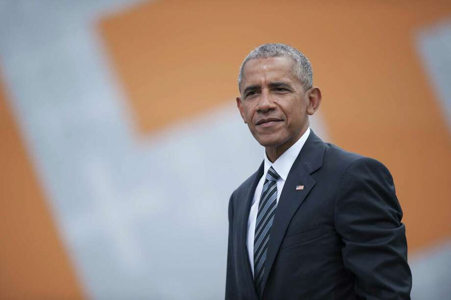 BERLIN, GERMANY - MAY 25: Former President of the United States of America Barack Obama after a discussion about democracy at Church Congress on May 25, 2017 in Berlin, Germany. Up to 200,000 faithful are expected to attend the five-day congress in Berlin and Wittenberg that this year is celebrating the 500th anniversary of the Reformation. (Photo by Steffi Loos/Getty Images) Photo: Steffi Loos, Stringer / Getty Images / 2017 Getty Images
