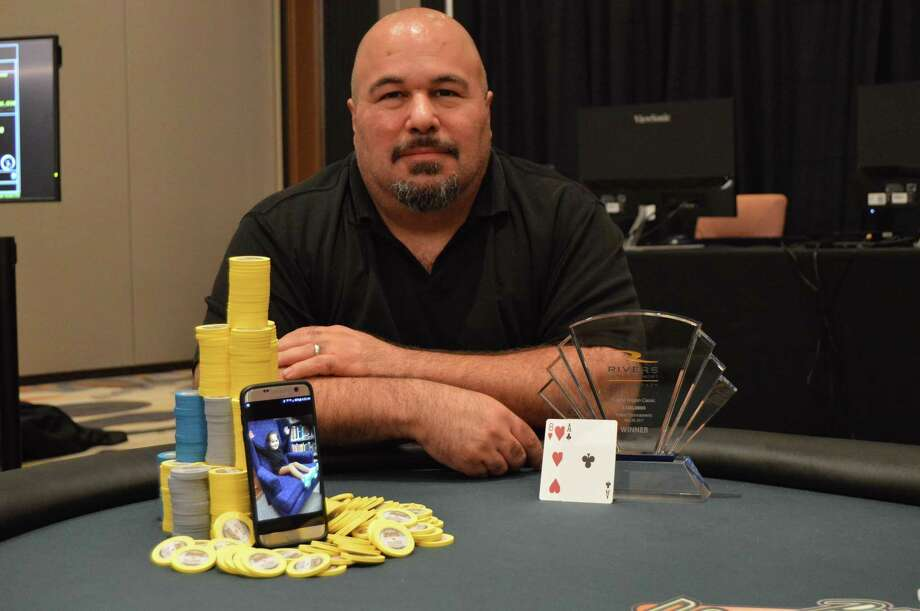 Robert Saladin won the Rivers Casino's first poker tournament.