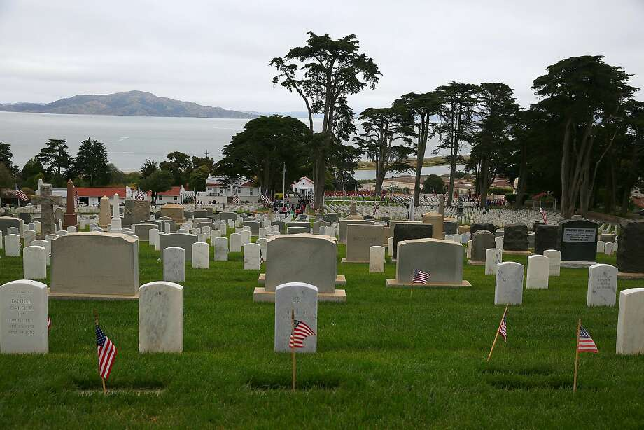 View of the Presidio cemetery on Memorial Day, May 29 , 2017,  in San Francisco. Photo: Liz Hafalia, The Chronicle