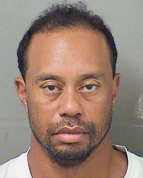 Tiger Woods is in a disheveled state in the booking photo from his DUI arrest. Photo: PALM BEACH COUNTY SHERIFF'S OFFICE, HO / PALM BEACH COUNTY SHERIFF'S OFFICE