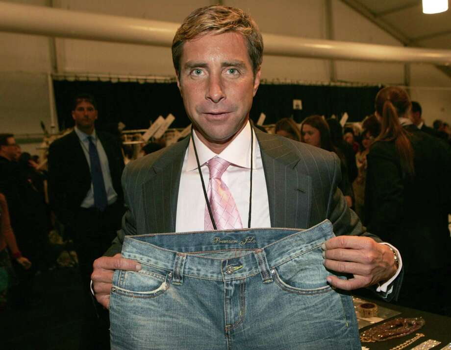 "Jeffrey Rackover holding ""Two Million Dollar Diamond"" Jeans created by Jennifer Lopez and Steinmetz Jewelry (Photo by KMazur/WireImage) Photo: KMazur / WireImage / This content is subject to copyright."