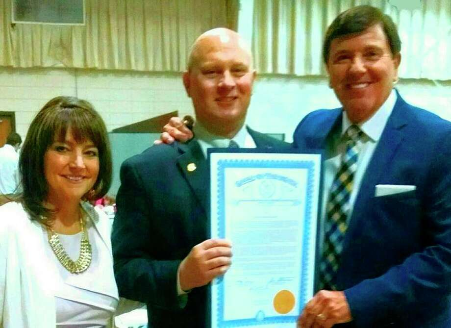 Tracy Payne, State Rep. Gary Glenn and Pastor James A. Payne.