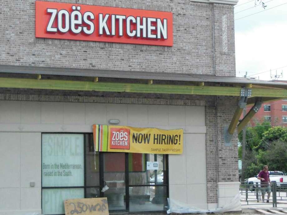 Zoe's Kitchen is opening a location in the Heights. Photo: Allen Jones
