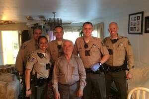 The Santa Clara County Sheriff Dept. tweeted a photo of deputies posing with Yousef Youkhaneh.