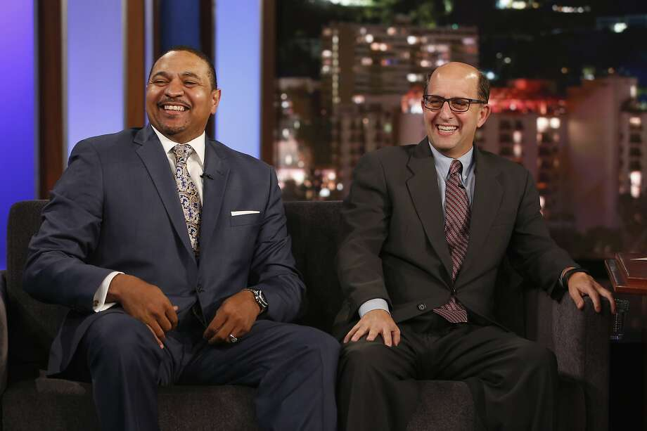 Sportscasters Jeff Van Gundy & Mark Jackson. Photo: (Randy Holmes/ABC Via Getty Images)