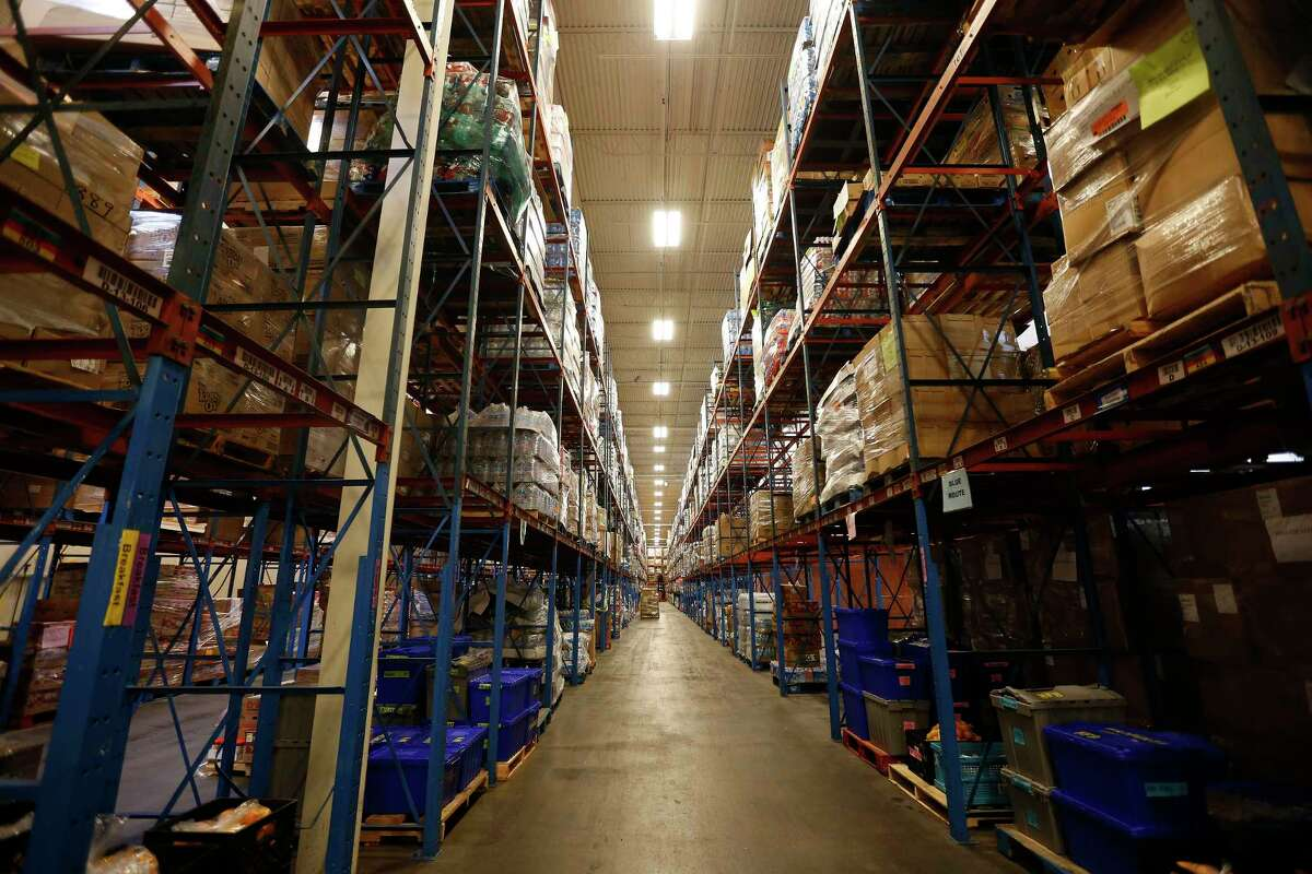 The warehouse at the Houston Food Bank.