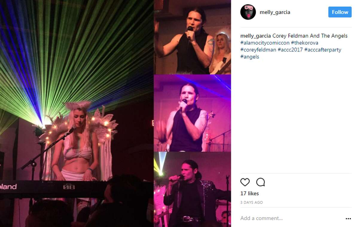 melly_garcia: Corey Feldman And The Angels #alamocitycomiccon #thekorova #coreyfeldman #accc2017 #acccafterparty #angels
